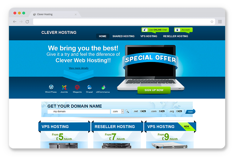 Clever Hosting Theme